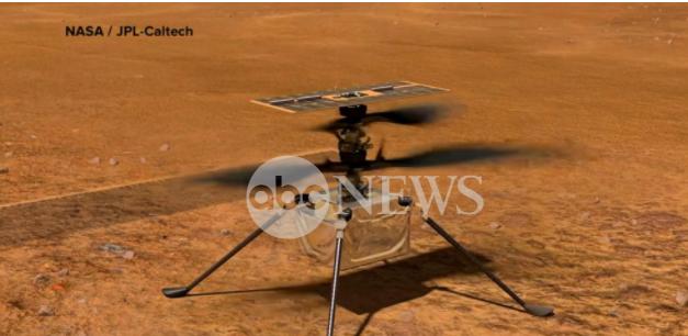美国航天局火星直升机听到嗡嗡声通过行星稀薄的空气